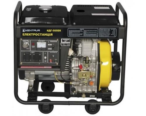 Генератор Кентавр КДГ-505ЭК (1 фаза, дизель, 5.5 кВт, эл.стартер)